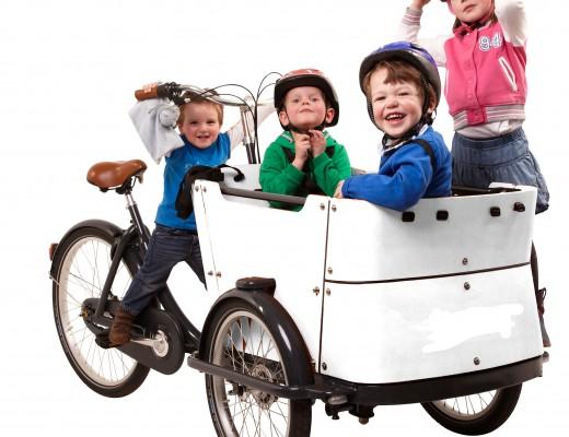 Transportdreirad von Babboe mit Kindern